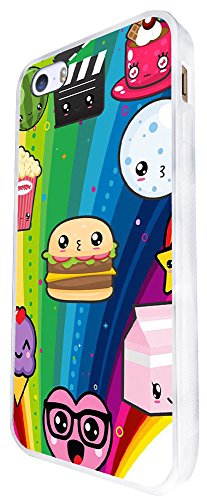 1495 - Cool Fun Trendy Cute Cupcake Sweets Candy Burger Sketch Cartoon Kawaii Collage Design iphone SE - 2016 Coque Fashion Trend Case Coque Protection Cover plastique et métal - Blanc