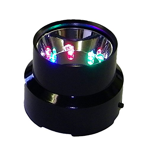 Amlong Crystal LED Light Stand for 3 to 5 Inch Crystal Balls, Black