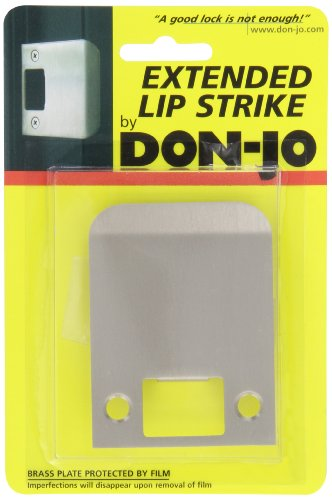 Don-Jo EL 125 18 Gauge Extended Lip Strike, Clear Coated Satin Nickel Plated, 2-1/2'' Width x 2-1/4'' Height (Pack of 10) by Don-Jo