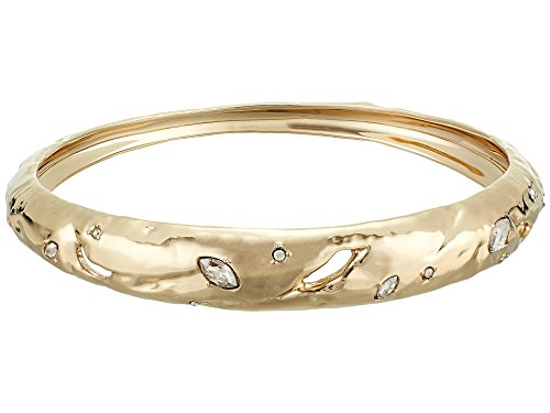 Alexis Bittar Women's Skinny Tapered Rocky Metal Bangle Bracelet 10k Gold One Size ()