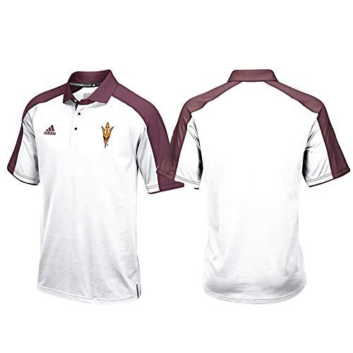 adidas Arizona State Sun Devils NCAA Men's Sideline Climalite Performance Football Coaches White Polo Shirt ()