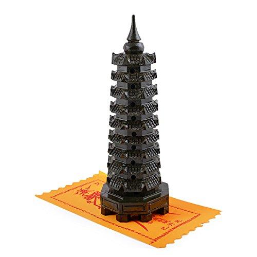 Fengshui Large Jade Nine-level Wen Chang Pagoda +Wen Chang Amulet for Education(Free Red String Bracelet ()