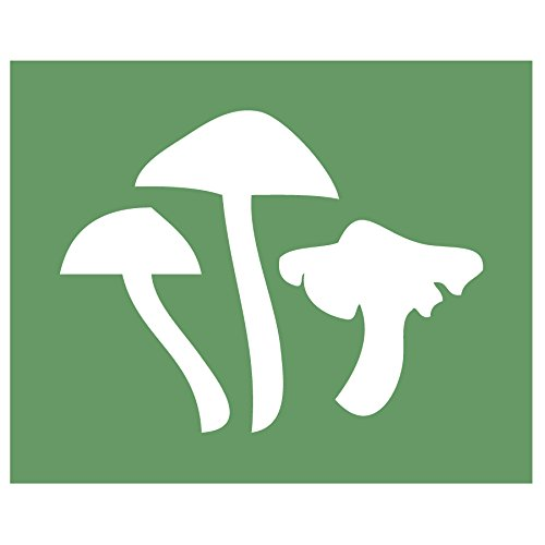 (Auto Vynamics - STENCIL-FAIRY-MUSHROOMS - Mushroom Cluster Individual Stencil from Detailed Woodland Fairy / Faerie Stencil Set! - 10-by-8.5-inch Sheet - Single Design)