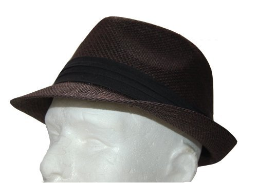 The Hatter Co. Tweed Classic Cuban Style Fedora Fashion Cap Hat, Brown by Hatter