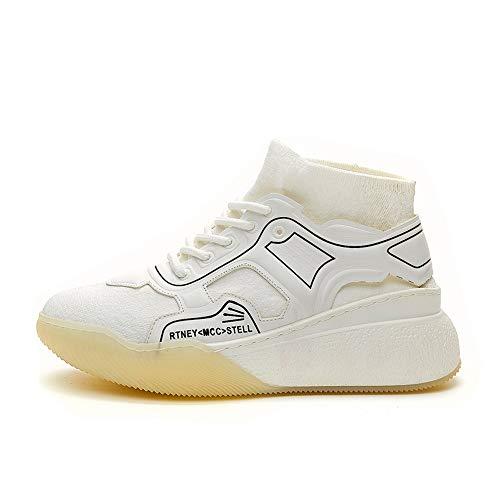 XINGMU Nuevo Hip-Hop Zapatos Deportivos Estilo Casual Estilo Socks Blanco
