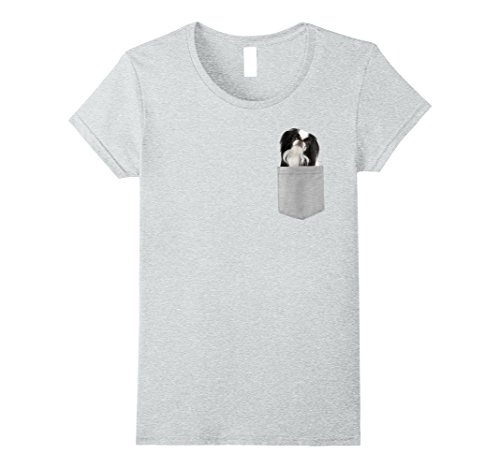 Womens Dog in Your Pocket Japanese Chin t shirt shirt Medium Heather Grey