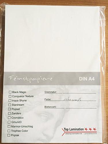 100 Blatt DIN A4 weisses Papier Karton 400g/m² von Top Lamination - Feinstkarton