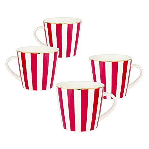 Grace Teaware Porcelain V Mug Set of 4