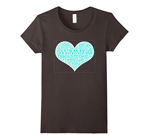 Women's Love To Swim T-Shirt Small Asphalt