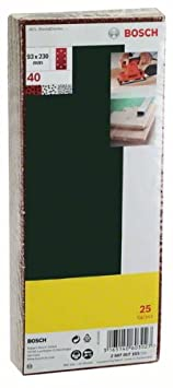 93 x 230 mm 2607017098 K/örnung 60 8 L/öcher Bosch 25-teiliges Schleifblatt-Set f/ür Schwingschleifer