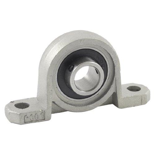 Uxcell a13042400ux0495 Up001 Pillow Block 12mm Bore Diameter Ball Bearing Stainless Steel, 0.6