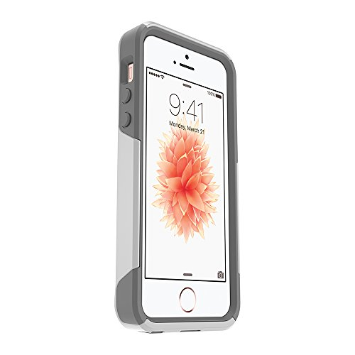 OtterBox COMMUTER SERIES Case for iPhone 5/5s/SE - Frustration Free Packaging - GLACIER (WHITE/GUNMETAL GREY)