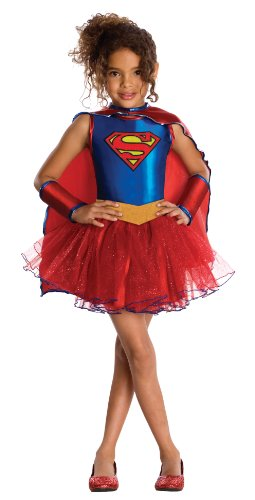 Bad Guy Superhero Costumes (Justice League Child's Supergirl Tutu Dress - Medium)