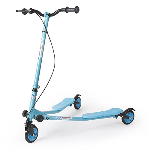 - AODI 3 Wheel Scooter Foldable Kick Scooter Self Push Motion Speeder Outdoor Sports with Height Adjustable Handlebar Blue for Kids Over 5 Year Older- Multiple Colors