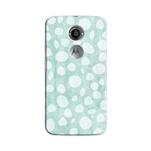 Cover It Up - Pebble Print Blue Moto X2 Hard Case