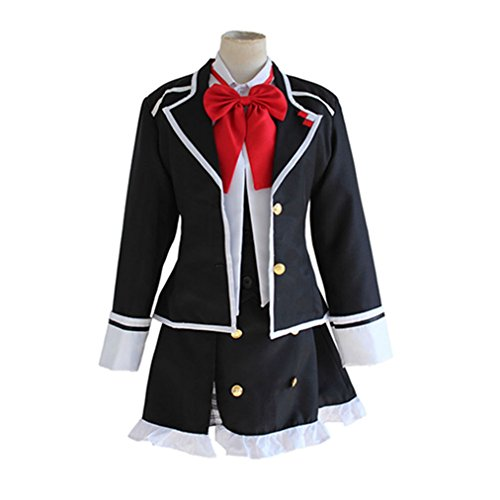 Womens Diabolic Lovers Yui Komori Cosplay Uniform Dress JP High School Skirt for Costume Party