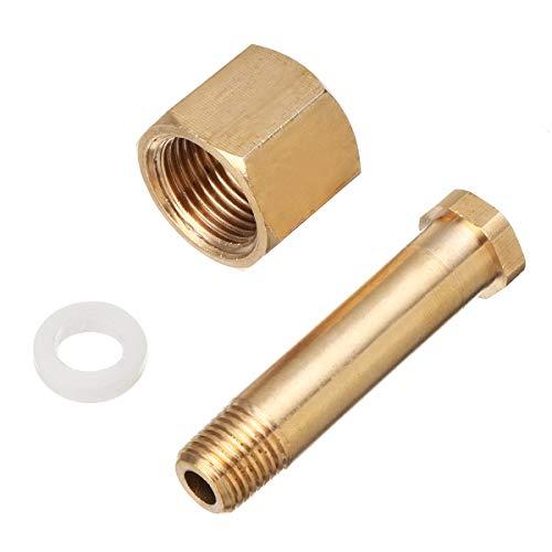 (DIN 477/ W21.8 Carbon Dioxide CO2 Regulators Inlet Nut & Nipple with Washer)