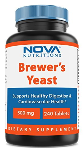 Nova Nutritions Brewers Yeast Tablets 500 mg 240 Count