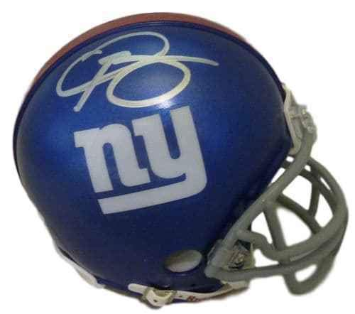 Odell Beckham Jr Autographed/Signed New York Giants Mini Helmet JSA ()