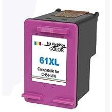 4INX Remanufactured Ink Cartridges Replacement for HP 61XL Color 61 XL for HP Officejet 4630 4635 4632 Envy 5530 4500 4501 4502 Deskjet 2540 2542 3050 1510 1000 2050 1512 1513 3000 Printer - Color