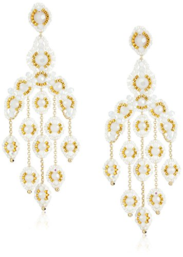 Miguel Ases Opalite Quartz Cascading Drop Earrings by Miguel Ases (Image #1)