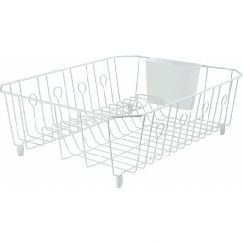 Rubbermaid 6032ARWHT Large White Dish - White Dish Drainer Wire