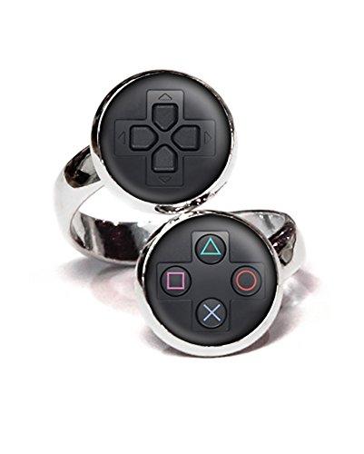PS4 Playstation Ring PS3 Controller Jewelry SNES Gaming Adjustable PS Uncharted Mario Luigi Zelda Necklace Halo