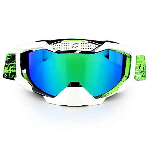 LAIABOR Gafas Patinaje De Esquí Deportes Gafas Patinaje De Esquí Lentes Motocross para Hombres Mujeres Jóvenes Patinaje De Esquí De Motos,Green