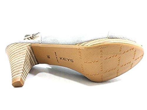 Zapatos Mujer: KEYS Sandalias Gris Gamuza AY999