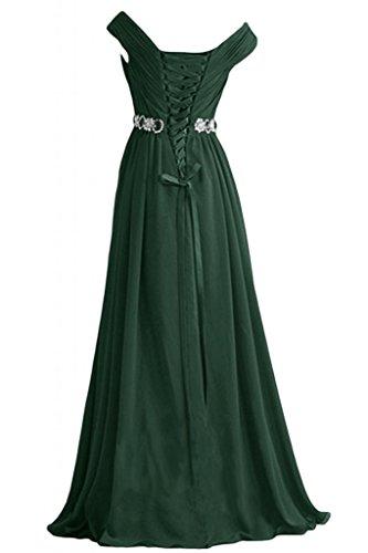 Sunvary da Green Sweep Neckline eleganti Poretrait formale Line sera ballo Dark V di A abito fw4Rfqa