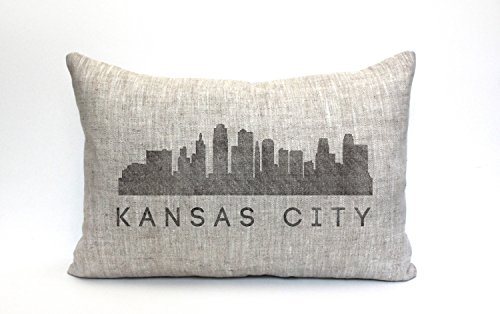 Phrase Gift Pillow - Athena Bacon Kansas City skyline Pillow Case throw Pillow Case word Pillow Case phrase Pillow Case mothers day gift 12 X 20 Inches.