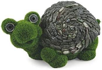 Galileo Casa - Figura de tortuga de magnesio de jardín con luz solar, verde: Amazon.es: Jardín