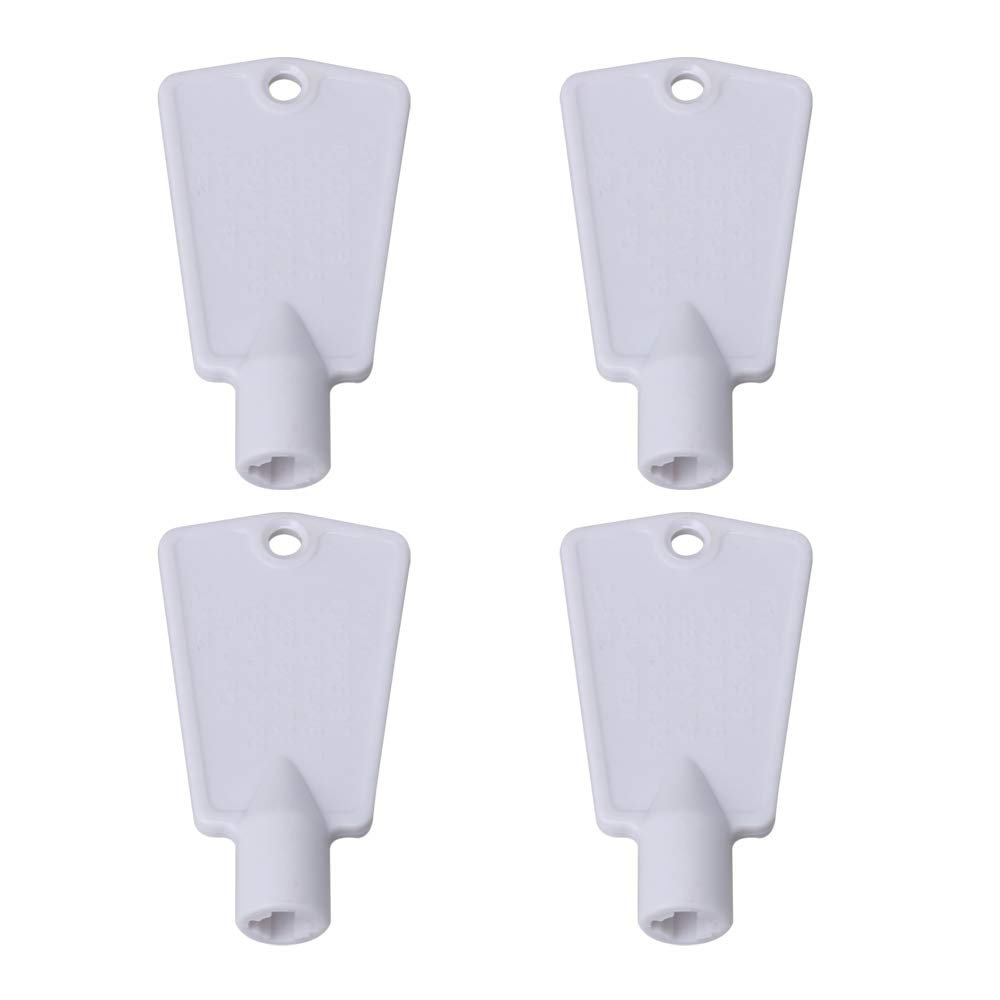 BQLZR 297147700 Freezer Door Key Replacement Part for Frigidaire Kenmore Electrolux Freezers Replaces AP4301346 PS1991481 Pack of 4
