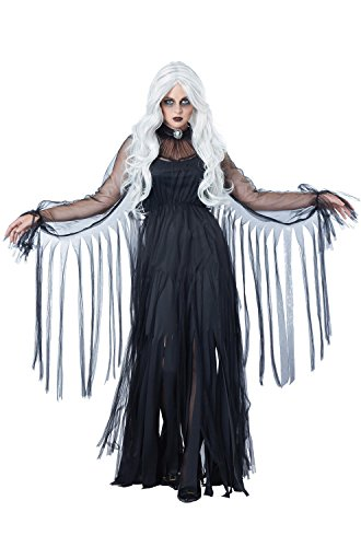 Cheap Scary Womens Halloween Costumes (California Costumes Women's Vengeful Spirit Costume, Black,)