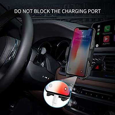 Air Vent Phone Holder for Car, FMU Universal Vehicle Cell Phone Mount Cradle with Adjustable Clip Compatible with iPhone XR/XS Max/XS/X/8/8 Plus/7/7 Plus,Galaxy S10/S10 Plus/S9/Note 9 and More