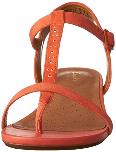 Women's Sandals Clarks Coral Parram Flat Suede Blanc dwS0zqF