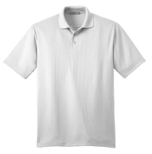 Port Authority Performance Fine Jacquard Sport Shirt, XL, White (Sports Authority)