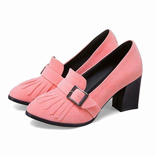 Scarpe Con Rosa A Basso Spillo Tacco Donna Mee Alto Shoes qXa0ZZ