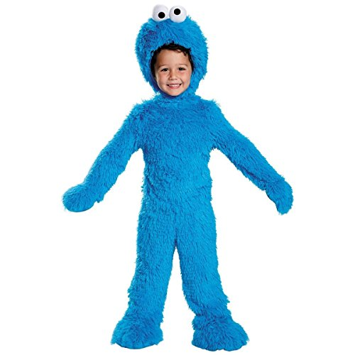 Extra Deluxe Cookie Monster Costume - Toddler Medium - Super Deluxe Santa's Elf Costumes
