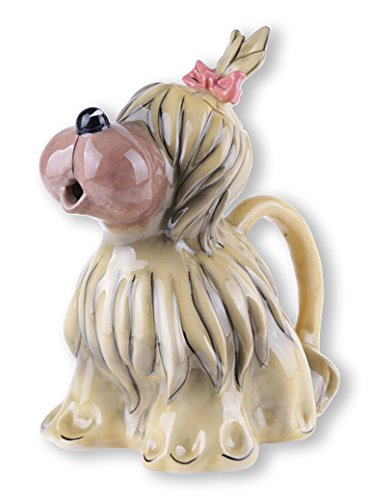 "Blue Sky Ceramic Briard Dog Teapot, 7.5 x 6 x 9"""