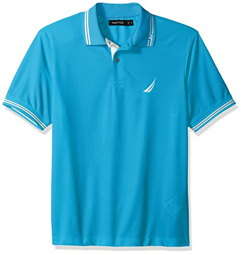 - Nautica Men's Performance Wicking and Stain Resistant Solid Polo Shirt, Bright Blue jig, XX-Large