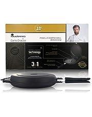 Cracco 3-in-1 dubbele grillpan: oven, pan, frituren, Ø 26 cm, hoogte: 6 cm, lijn Masterpro
