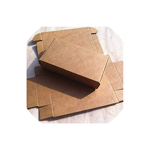 50Pcs/Lot Natural Kraft Paper Box Craft Gift Box Wedding Candy Box Carton Cajas Packaging For Soap Jewelry Box,Brown,118X67X30Mm