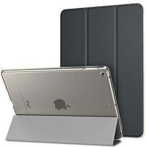 MoKo Funda iPad 9.7 Pulgada 2018/2017 - Ultra Slim Función de Soporte Protectora Plegable Smart Cover Trasera Transparente Durable - Gris Espacial
