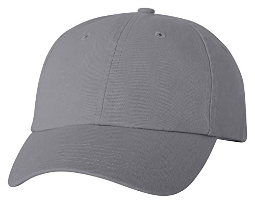 valucap-adult-bio-washed-unstructured-cap-vc300a-adjustable-grey