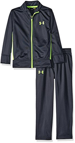 Under Armour Little Boys' Zip Jacket and Pant Set, Stealth Gray, 6 (Boys Track Jacket)