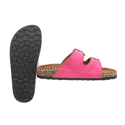 Women's Design Ital Flat Pink CK01 Sandals at Mules wwRqdr5