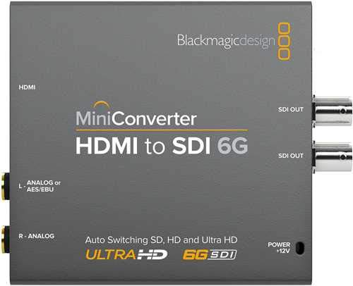 Blackmagic Design Mini Converter - HDMI to SDI 6G (Hdmi To Sdi Adapter)