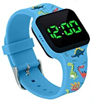 Potty Training Timer Watch with Flashing Lights and Music Tones - Water Resistant, Rechargeable, Dinosaur Patt