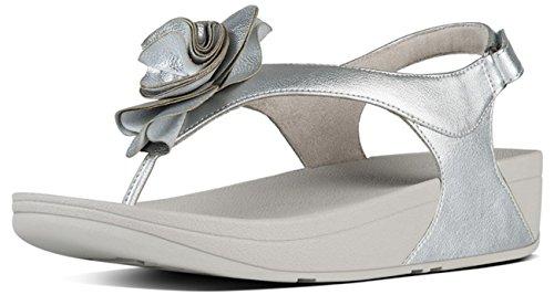FitFlop - Sandalias de vestir para mujer plateado